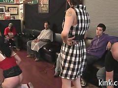 Nerd girl sucks a big boner after coming home from school