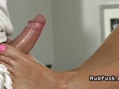brunette, hardcore, massage, fucking, shaved, wanking