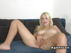 Blonde pale goddess fucked by a casting agent