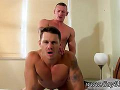 Tattooed stud opens wide to get his ass plugged with dick