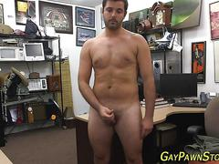 Amateur hunk masturbating