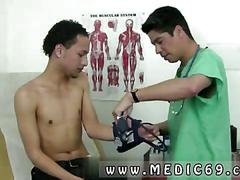 Mexican doctor plays with a skinny black twink in the hospital