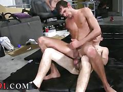 Getting bum fucked along with his buddies