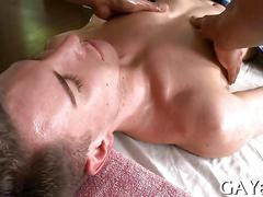 Hunks getting rowdy as they massage and fuck a bit