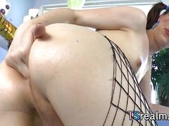 Cute tgirl stefani special stretches her asshole