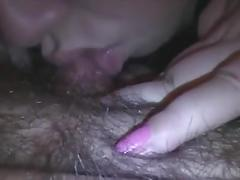 Wet big clit suck and lick