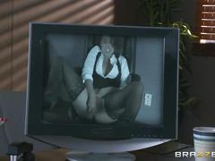 Brazzers - eva angelina deepthroats her co-worker