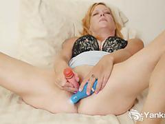 lingerie, milf, shaved, cum, toy, masturbation, dildo, solo, vibrator, orgasm, climax, amateur, cumming