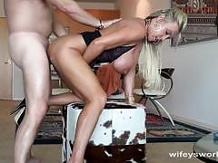 Seductive housewife fucked hard