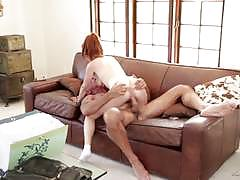 Fiery redhead penny pax getting her pussy ramm...
