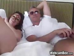 Masked cam girl and her lover
