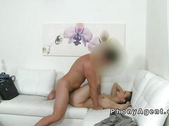 Pierced pussy amateur fucks in casting