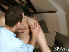 Tall euro stud stripped and fucks his lover bareback