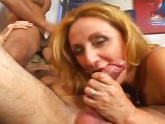 Super naughty bisexual threesome with horny dads and hot slut