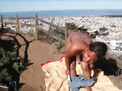 Nude in san francisco:  18-year-old black girl masturbates in park