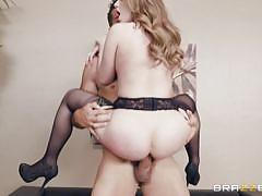blonde, big ass, babe, big cock, stockings, riding cock, ball sucking, standing cowgirl, riding anal, big butts like it big, brazzers, ramon, harley jade