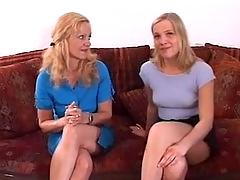 German mother and daughter fuck young stud