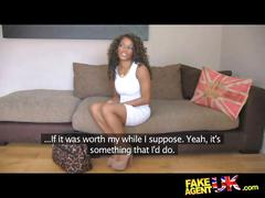 Fakeagentuk inexperienced ebony amateur gets duped...