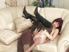 Mature afina fucks with a young guy