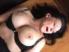 Busty milf in fully fashioned nylons toys