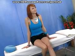 Redhead fucked at nude massage session