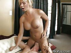 Young blonde brianna sucks and rides a big dick