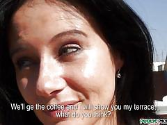 czech,busty,cafe,black hair,nice eyes,enza,public pickups,mofos cash