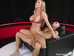 Nikki benz's big tits bounce while her pussy is fucked