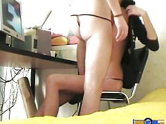 Lustful tanya gets pussy-rimmed on the chair through multiple ways