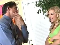 teen, babysitter, nicole, ray, gets, caught, blonde