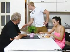 Sexy brunette lora and her man