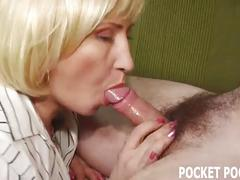 Classy housewife indulges in a younger hunk