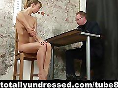 Dirty job interview in the office