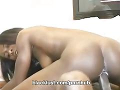 Tight butt ebony tiny star gets a hot black facial only at blacklust