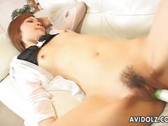 Ravished with toys and choked with cock