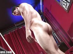 Maskurbate: muscle hunk chuck jerking his big dick