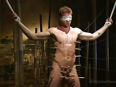 bdsm, blindfolded, gay, laundry pliers, cbt, 30 minutes of torment, kink men, connor maguire