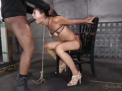 milf, threesome, bdsm, interracial, deepthroat, latina, crying, brunette, mouth fuck, from behind, vault, squeezed tits, sexually broken, matt williams, jack hammer, lyla storm