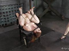 milf, bondage, bdsm, lesbians, brunette, tied up, sex toys, mouth gagged, hard tied, elise graves, penny pax