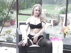 blonde, mature, solo, stockings, big boobs, european, teasing, mature eu, mature nl, sofia rae