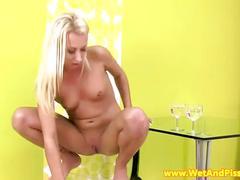 Pee fetish babe pissing in pantyhose