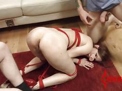 Calico turned into pig for brutal bondage and assfucking