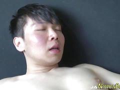 Japanese twink cum drip