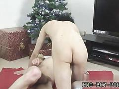 Spoon fucking the twink in the bum so deep