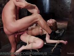 bondage, fetish, rough sex, natural-tits, big-dick, thetrainingofo, latin, bdsm, latino, kink, rough, rope, bit-gag, vibrator, training, blowjob, clothespins, face-slapping, ballgag, brunette