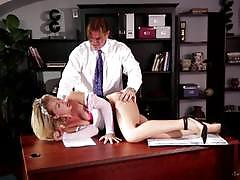 Zoey monroe getting spanked by her boss