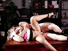 zoey monroe, blowjob, riding, cumshot, glasses, blonde, desk, office, table, work, cowgirl, boss, spanking, spooning, sucking, spank, licking pussy