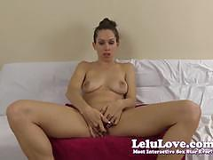 Seductive lelu love rubs her moist slot