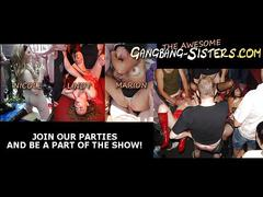 The gangbang  not sisters like to party