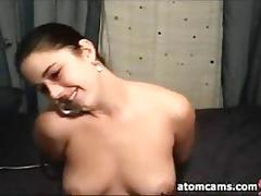 amateur, masturbation, webcam, brunette, sexy, solo, stockings, vibrator
